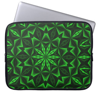 Green Abstract Laptop Sleeve