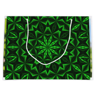 Green Abstract Large Gift Bag