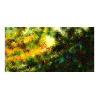 Green Abstract Painting Art Picture Card