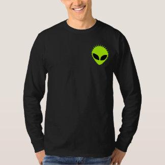 Green Alien Canvas Henley Long Sleeve Shirt
