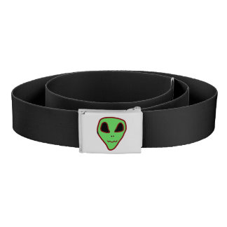 Green Alien Face Belt