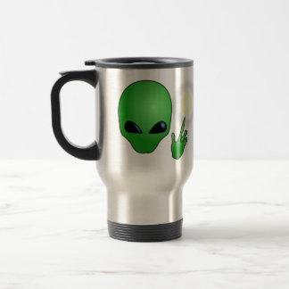 Green Alien Coffee Mugs