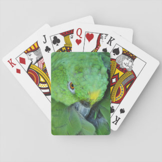 Green Amazon Parrot Playing Cards