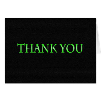 Green and Black Class 2014 Thank You Card