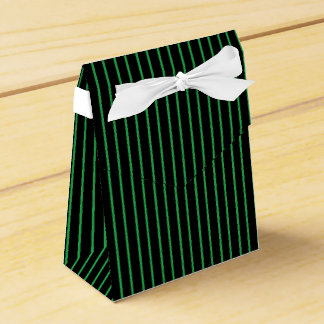 Green and Black Pinstripe Favor Box Favour Box
