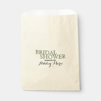 Green and Black Special Occasion Typography Favour Bags