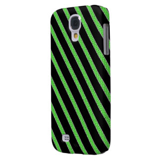 Green and black stripes cell phone case
