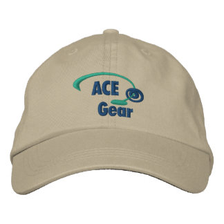 Green and Blue Ace Gear Embroidered Hat
