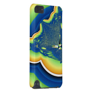 Green and Blue Fractal iPod Touch (5th Generation) Case