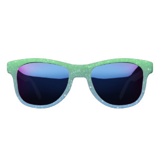 Green And Blue Glimmer Sunglasses