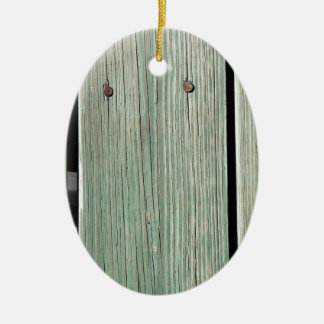 Green and Brown Wood Plank Walkway Christmas Ornament