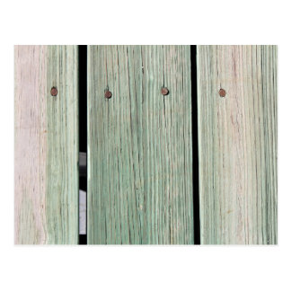 Green and Brown Wood Plank Walkway Postcard