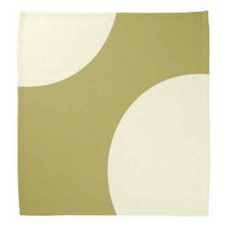 Green and cream abstract bandana