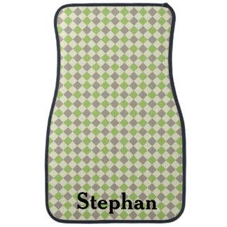 Green and Gray Argyle Car Floor Mats Floor Mat