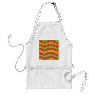 Green and Orange Wavy Stripes Aprons