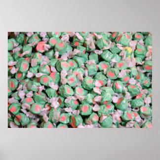 Green and Pink Salt Water Taffy Print