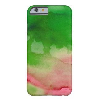Green And Pink Watercolor Custom Barely There iPhone 6 Case