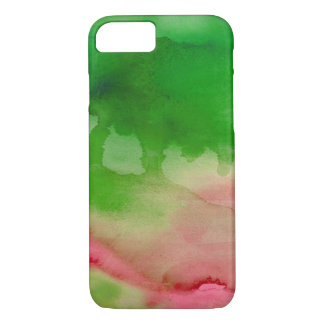 Green And Pink Watercolor Custom iPhone 7 Case