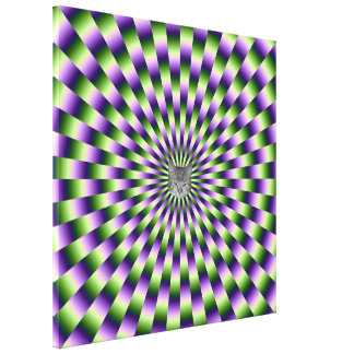 Green and Purple Links + Cat Canvas Print