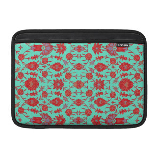 Green and Red Vintage Floral Pattern Sleeve For MacBook Air