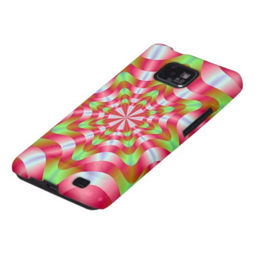 Green and Red Whirling Dervish Samsung Galaxy Case