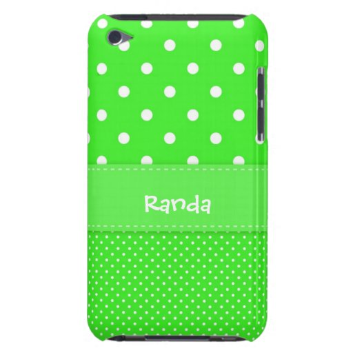 Green and White Polka Dot iPod Case iPod Touch Cases