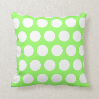 Green and White Polka Dots Cushion