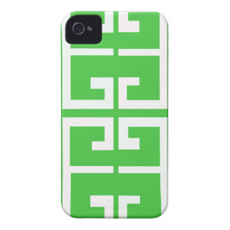 Green and White Tile iPhone 4 Case-Mate Case