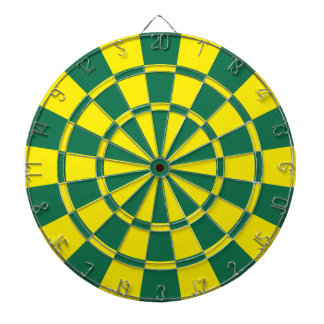 Green And Yellow Dart Boards
