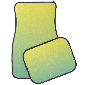 """""""Green And Yellow Ombre"""" Car Mat"""