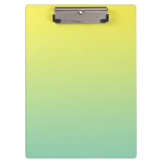 """Green And Yellow Ombre"" Clipboard"