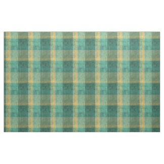 Green and Yellow Vintage Plaid Effect Fabric