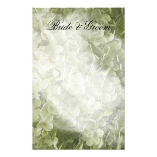 Green Annabelle Hydrangea Floral Wedding Stationery
