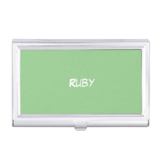 Green Apple Personalized Business Card Holder