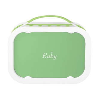 Green Apple Polka Dot Personalized lunch box