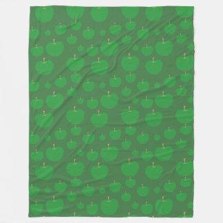 Green Apples fleece blanket Fleece