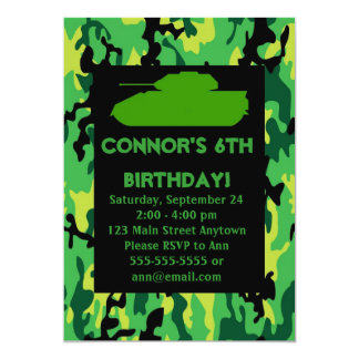 Army camouflage invitation templates 414 army camouflage for Camouflage party invitation template