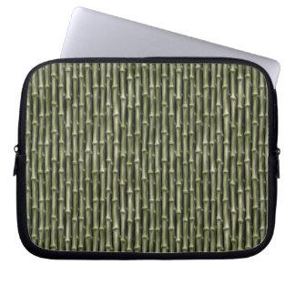 Green Bamboo Nature Pattern Computer Sleeves