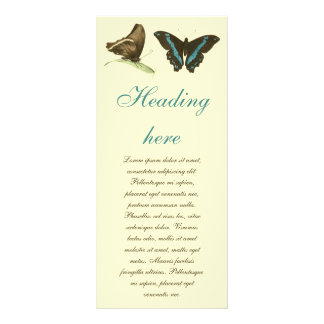 Green-banded Swallowtail Butterfly, Custom Rack Cards