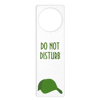 Green baseball cap door knob hangers