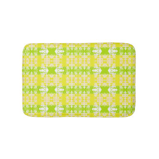 green bath mat