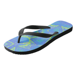Green Batik Flip Flops: choose size/style Thongs