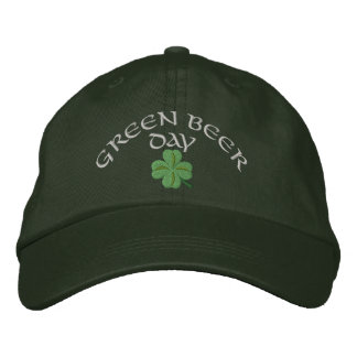 Green beer day St Patrick's Embroidered Hats
