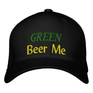 GREEN Beer Me Embroidered Baseball Cap