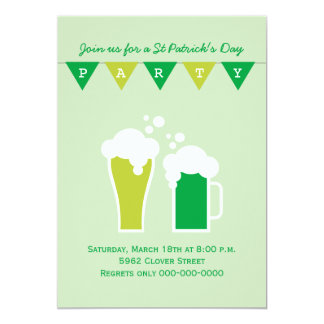 Green Beer St Patrick's Day Party Card