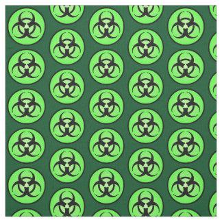 Green Biohazard Symbol Fabric