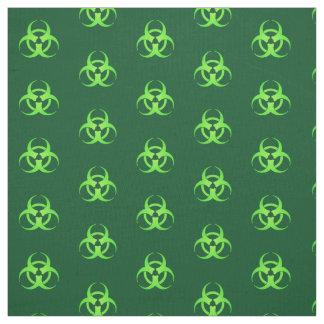 Green Biohazard Symbol Pattern Fabric