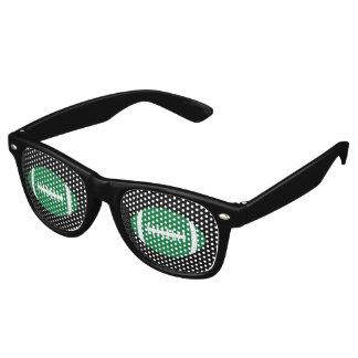 Green & Black Football Fan Gameday Tailgate Party Retro Sunglasses