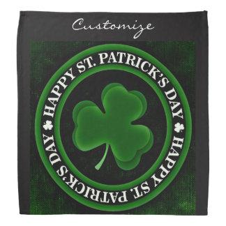 green/black Shamrock St Patrick's Day Thunder_Cove Bandana