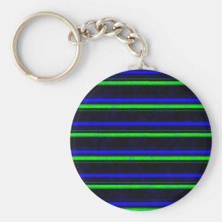 Green blue black touched basic round button key ring